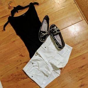 White distressed cutoff Jean shorts 7